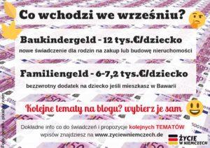Familiengeld, Baukindergeld, Tematy wpisów Zycie w Niemczech